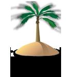 auf eine einsame Insel