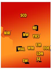 Amateurs by region